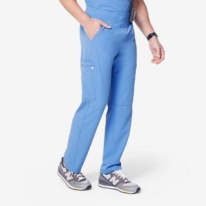 FIGS Men's Ceil Blue Axim Cargo Scrub Straight Leg Pants sz L